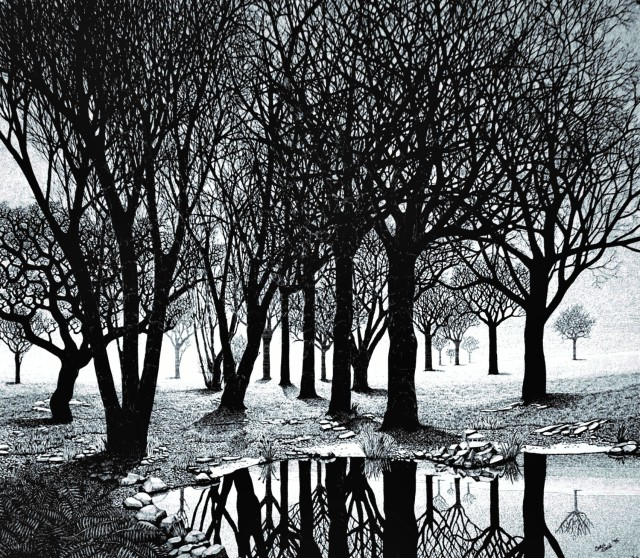 Trees - 62 x 55 - Pen and Ink on Paper - 1985 (2)